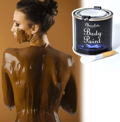 Peinture comestible chocolat